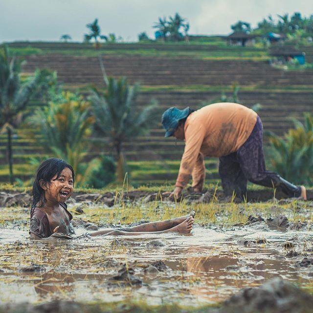 Mud bath time.