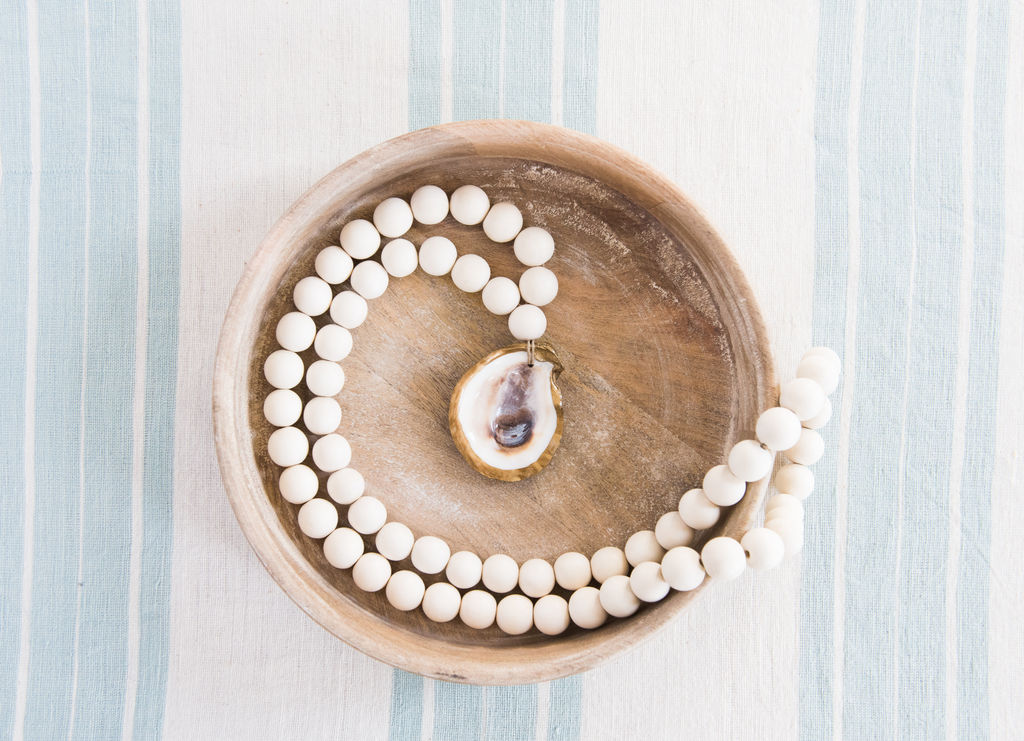 Oyster Blessing Bead (long)