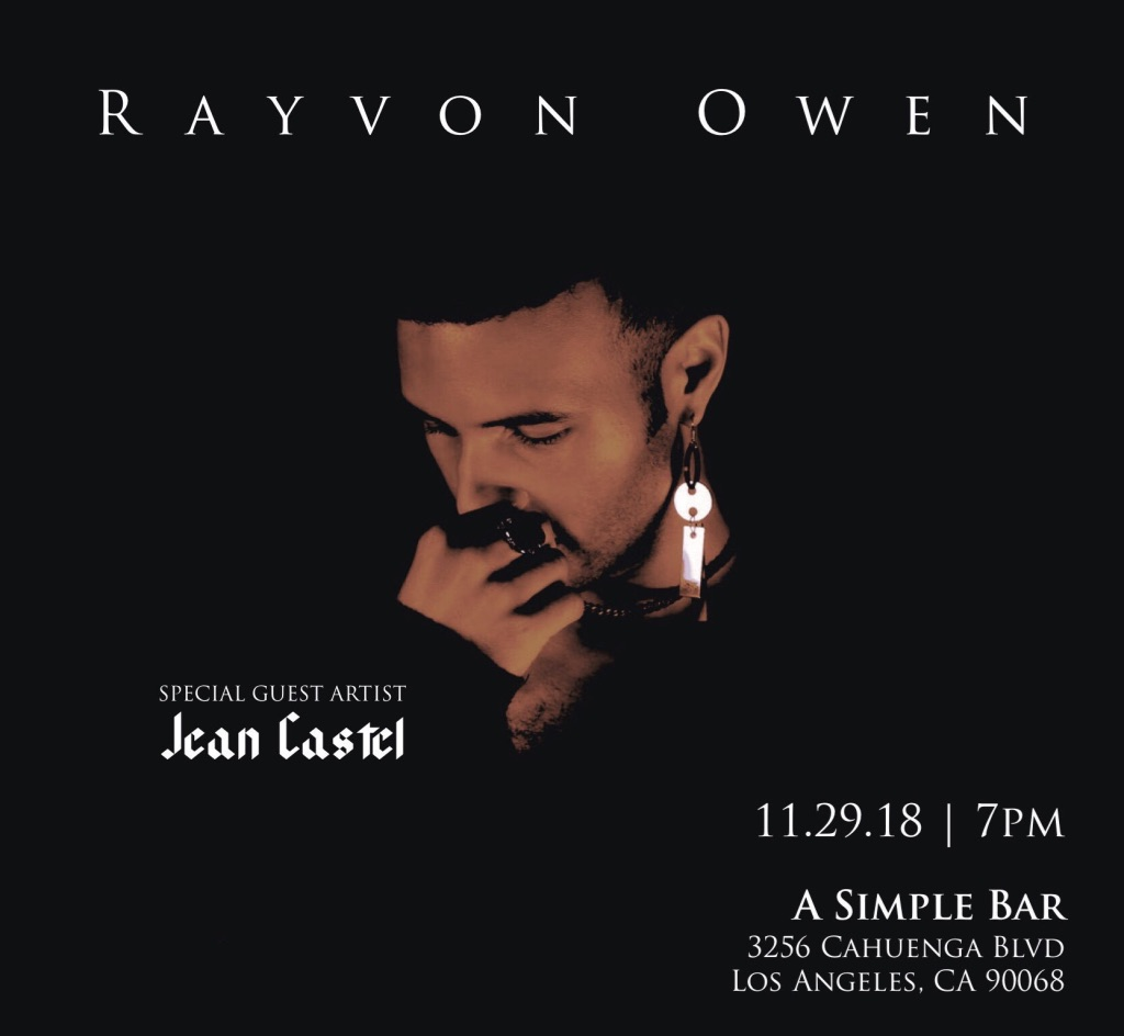 "Show at ""A Simple Bar"" - Jean opened for Rayvon Owen on 11.29.2018 at ""A Simple Bar"" in Studio City, CA."