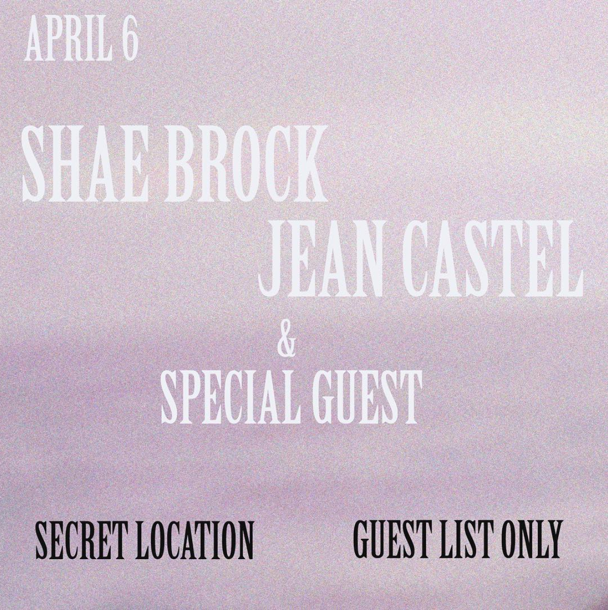 Private show - Jean performed an acoustic show on April 6th, 2019.