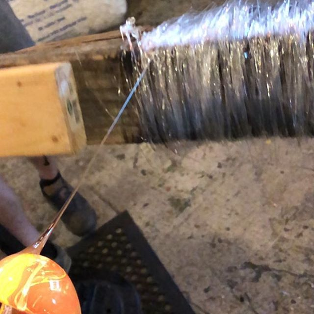 A look into the process for one of the  pieces that @fragmentation and I will have on display at @momentumgallery opening tomorrow night.  Big thanks to @aguilford4 and @gkoslow at @lexingtonglass for letting us get a little weird in their beautiful studio! #glassblowing #blownglass #contemporaryglass #architecture #glassarchitecture