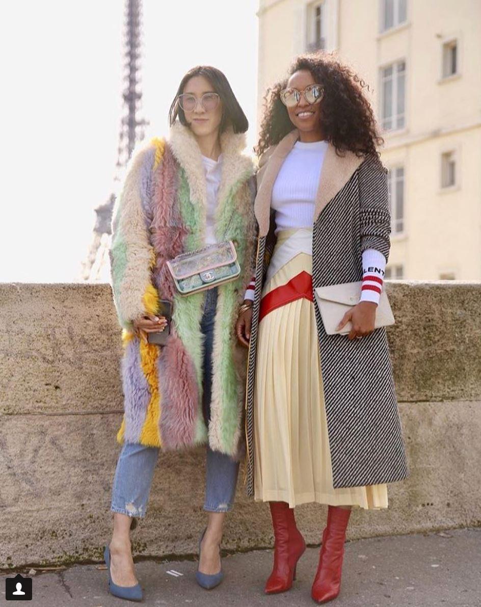 Eva Chen and Shiona Turini at Fashion Week