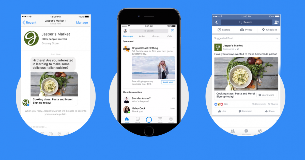 Messenger has already tested advertisements with static images.