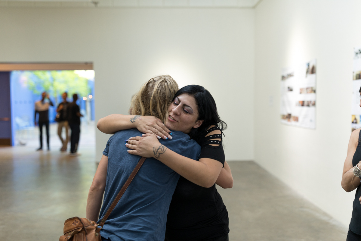 Santa Fe Art Institute,  From Numbness to Awakening  opening reception, May 2018  Photograph by Adria Malcolm