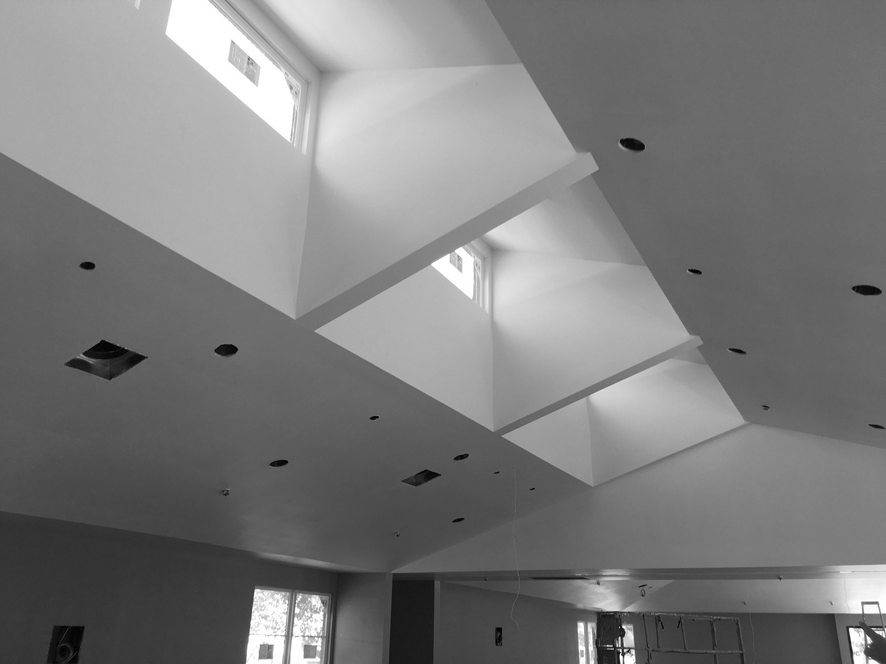 - Clerestory windows illuminating the main space of the Wellness Center at MVGH