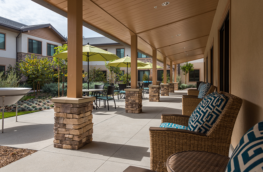 Emerald Court Expansion Courtyard