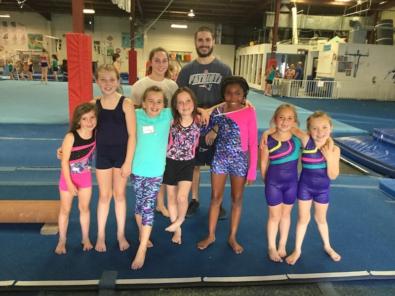Shining Stars - Beginners: age 5 and up – 60 minutesStudents are introduced to all gymnastics apparatus'. We strive to minimize idle time with station training and smaller class sizes. It's not unusual to have multiple instructors for a single gymnastics class!