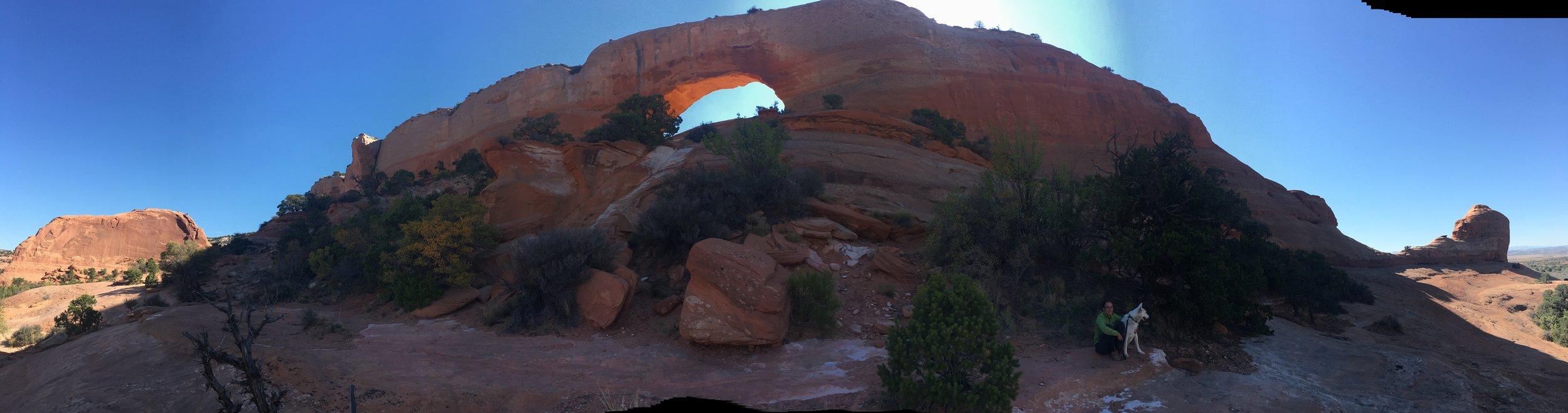 An arch rock