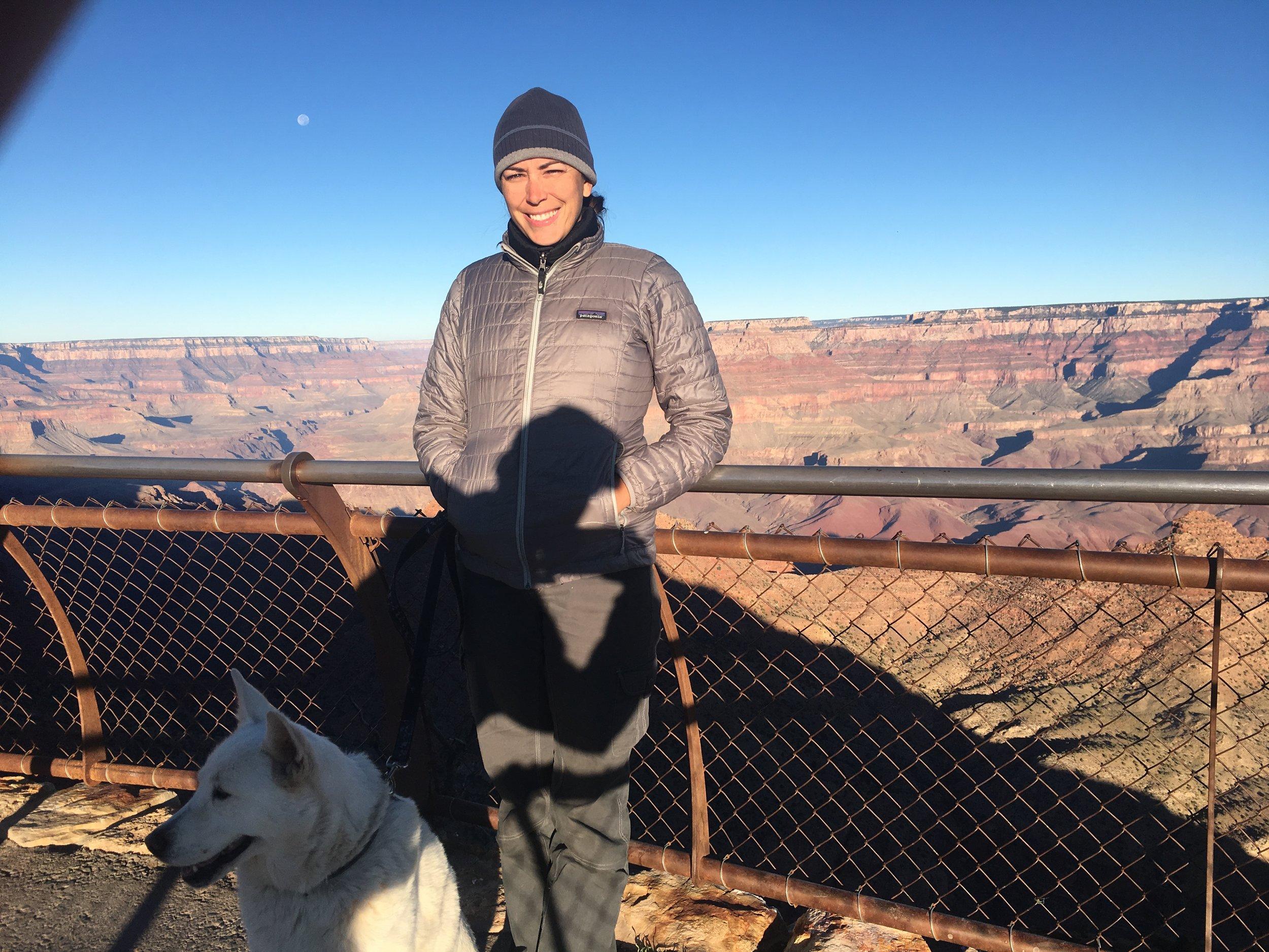 At the Grand Canyon south rim.