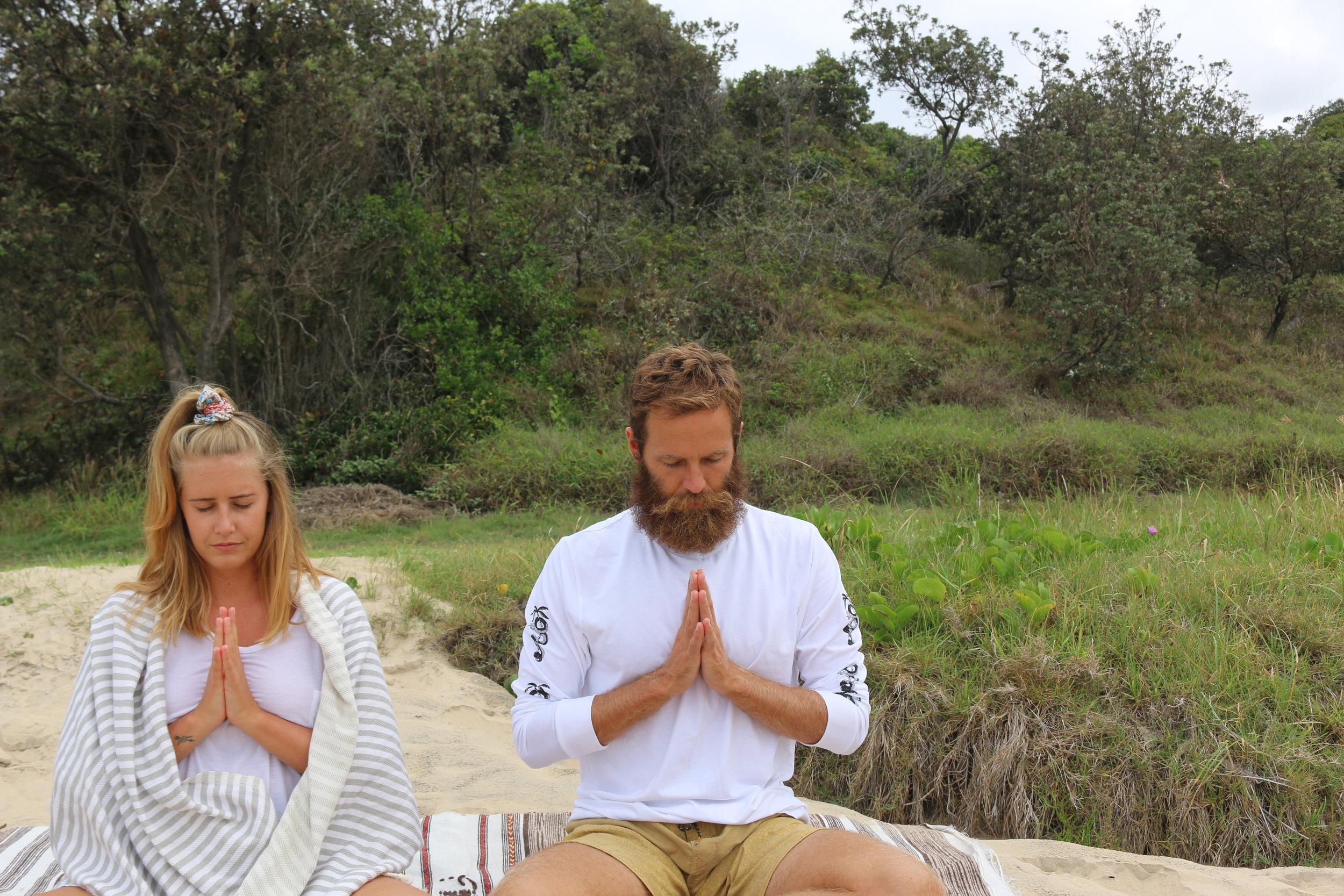 I teach meditation. -