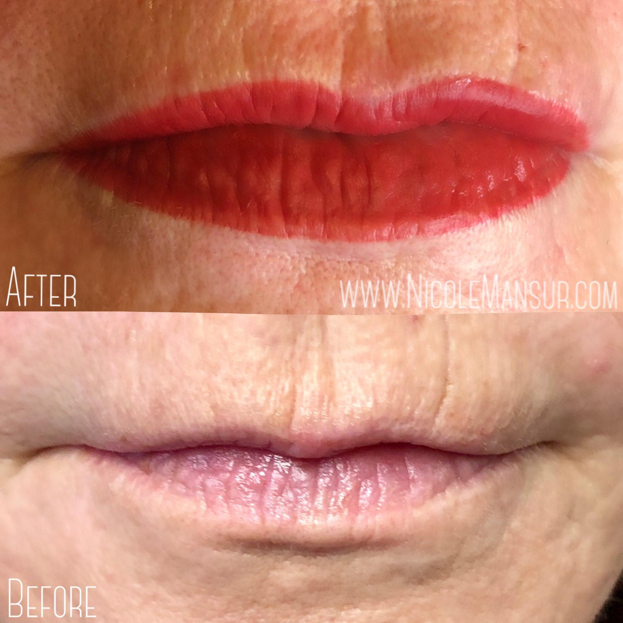 Permanent Lip Color Permanent Lip Blushing Permanent Lip Liner