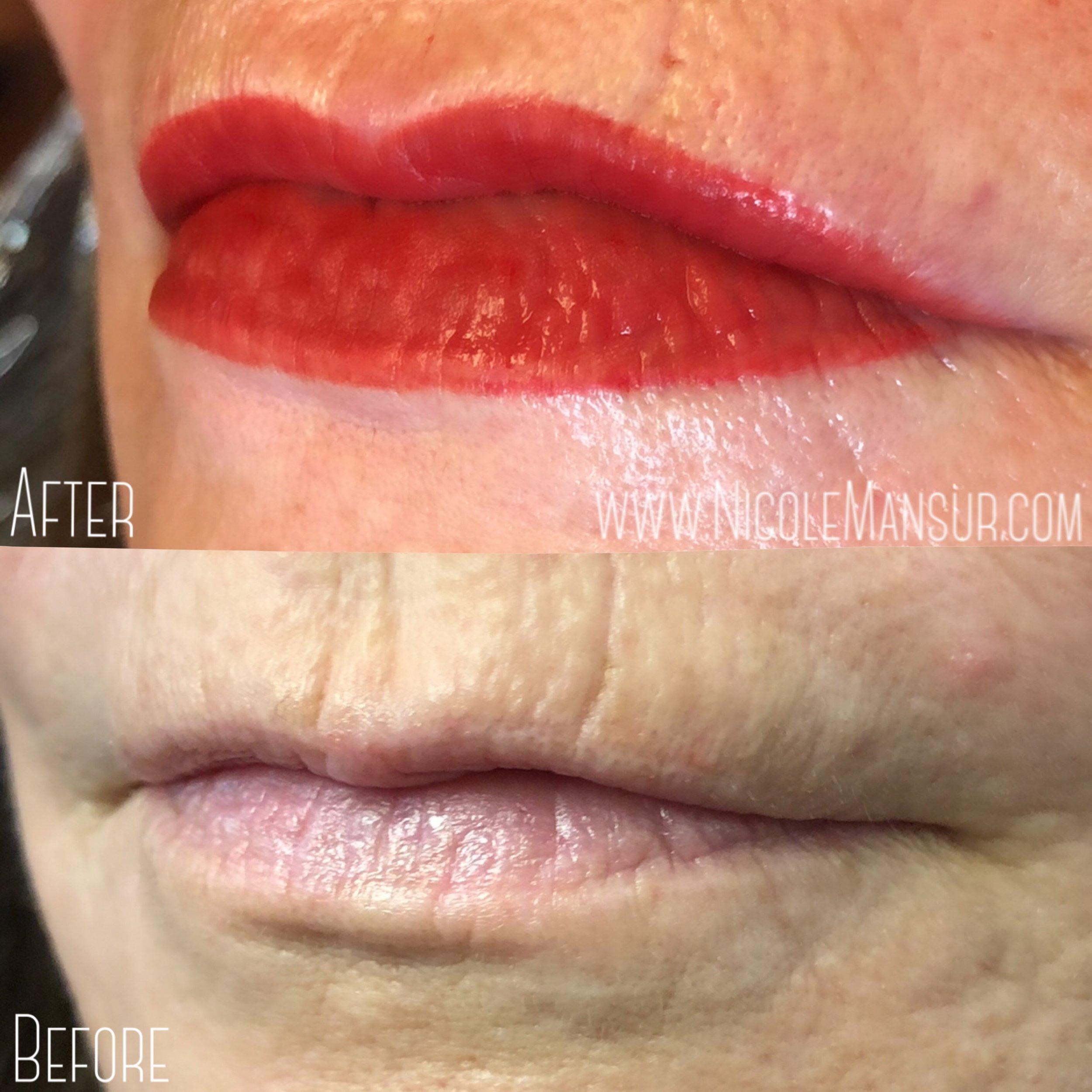 Permanent Lip Color   Orange County, CA   Nicole Mansur Artistry