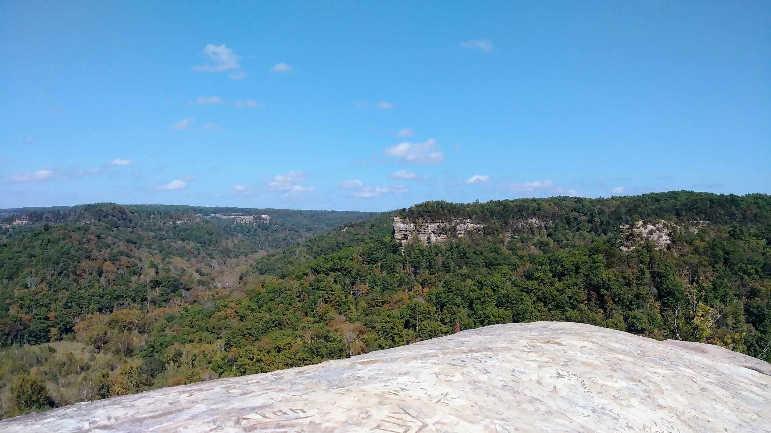 Chimney Rock and Half Moon from Hanson's Point