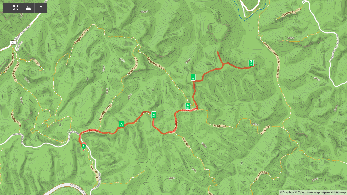 Hiking map to Pinch 'em Tight and Hanson's Point.
