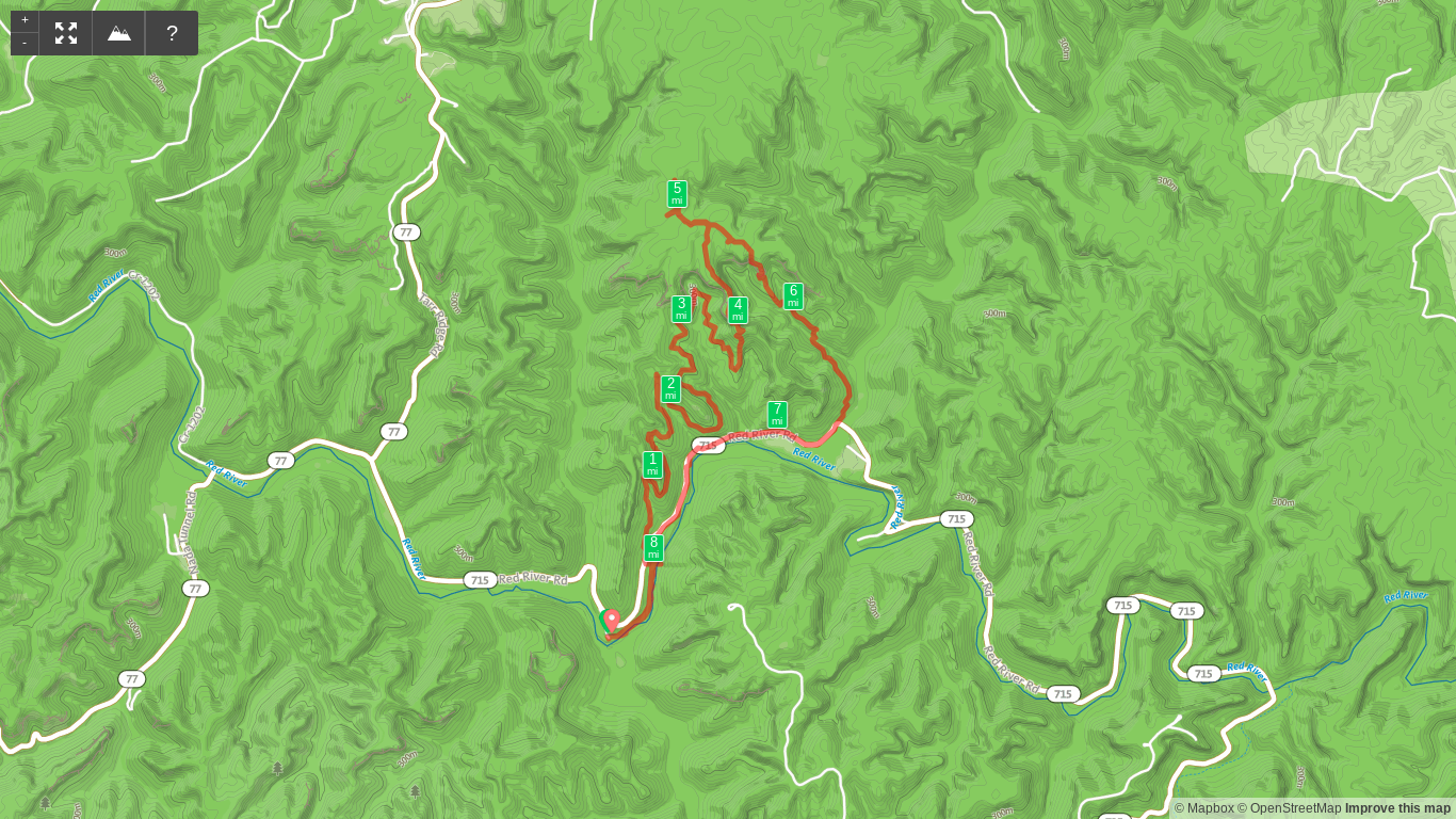 Map of Indian Staircase Loop and campsite exploration hike