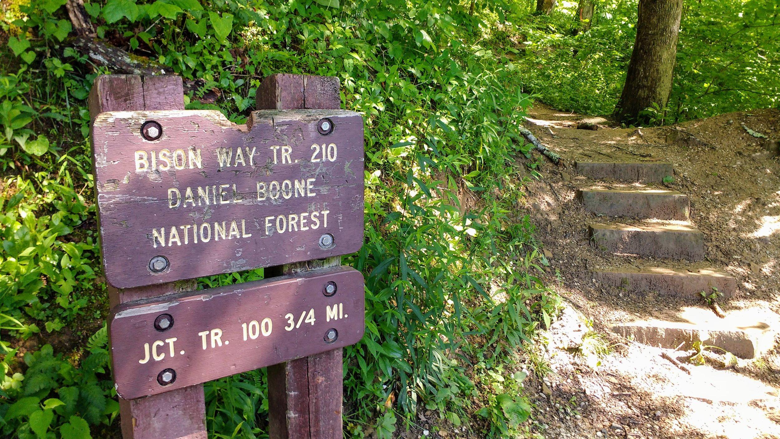Bison Way Trail sign