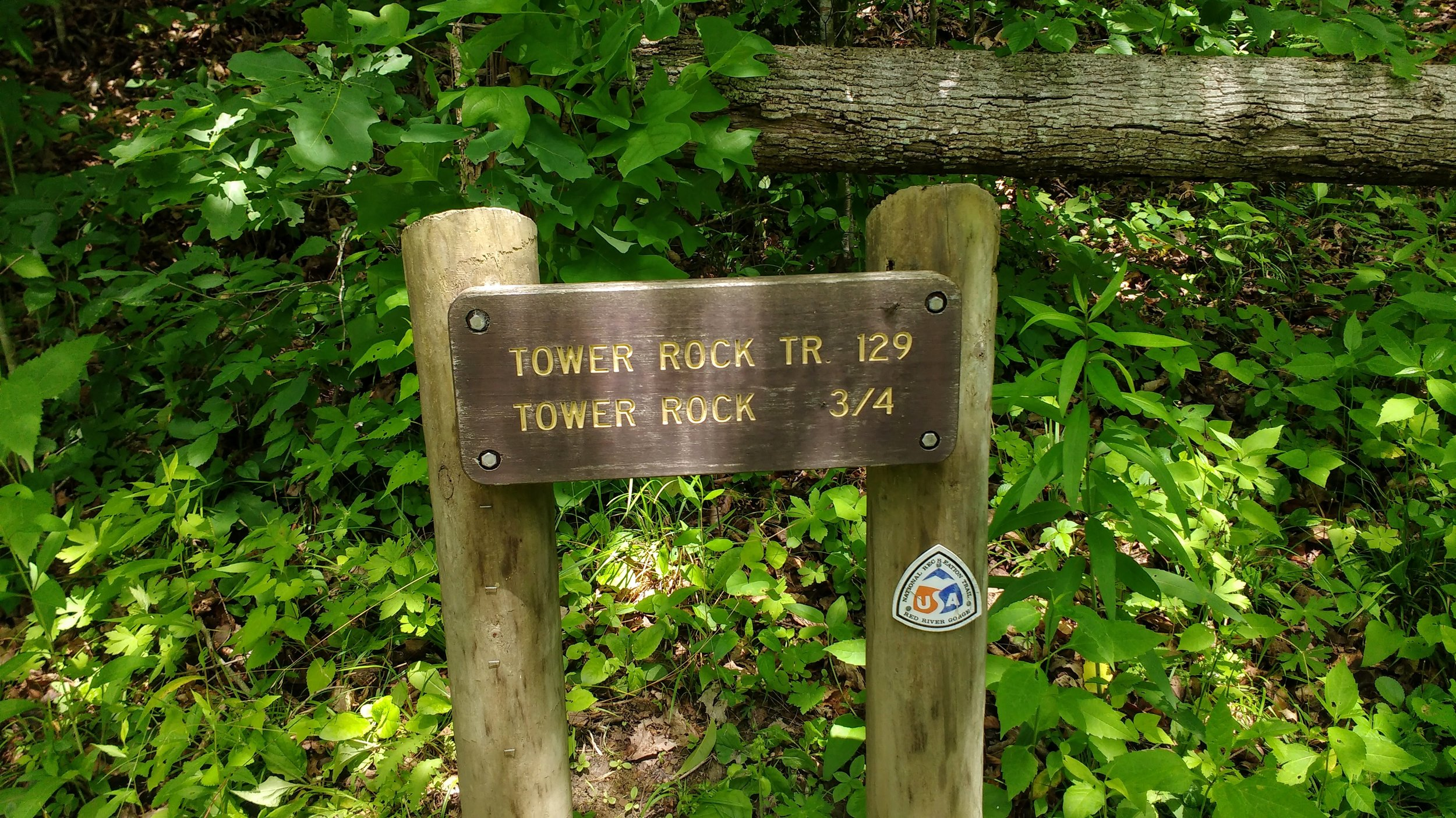 Sign for Tower Rock Trail