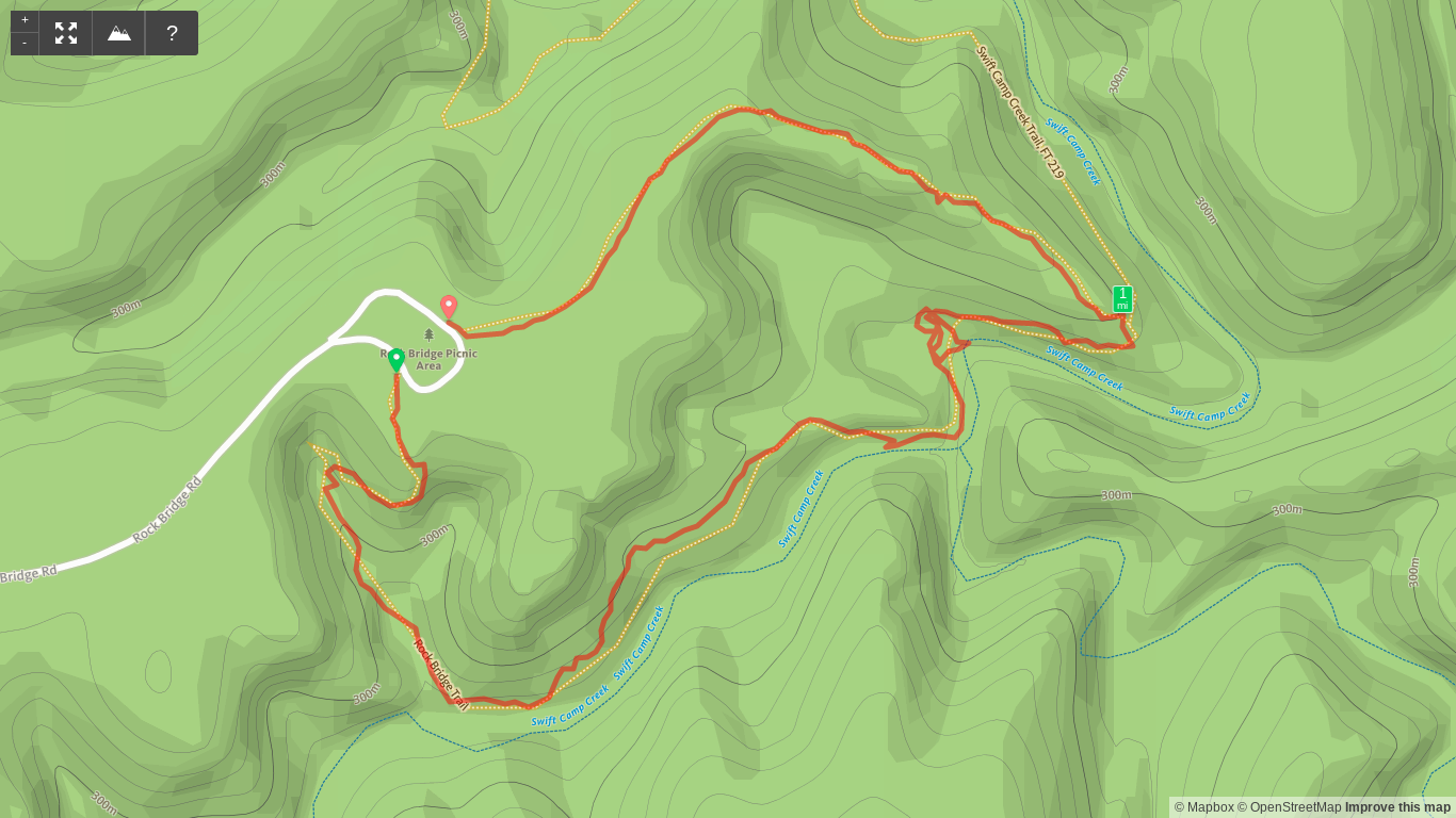 Map of Rock Bridge Arch Trail