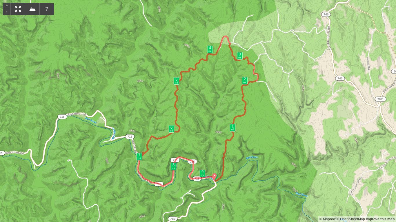 Map of Osborne Bend Loop