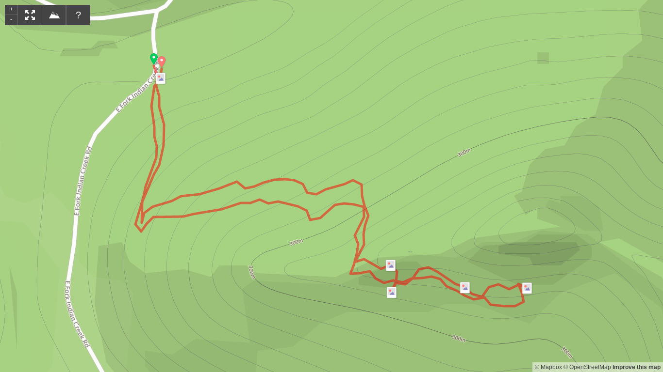 Map of Pebble Beach Trail hike