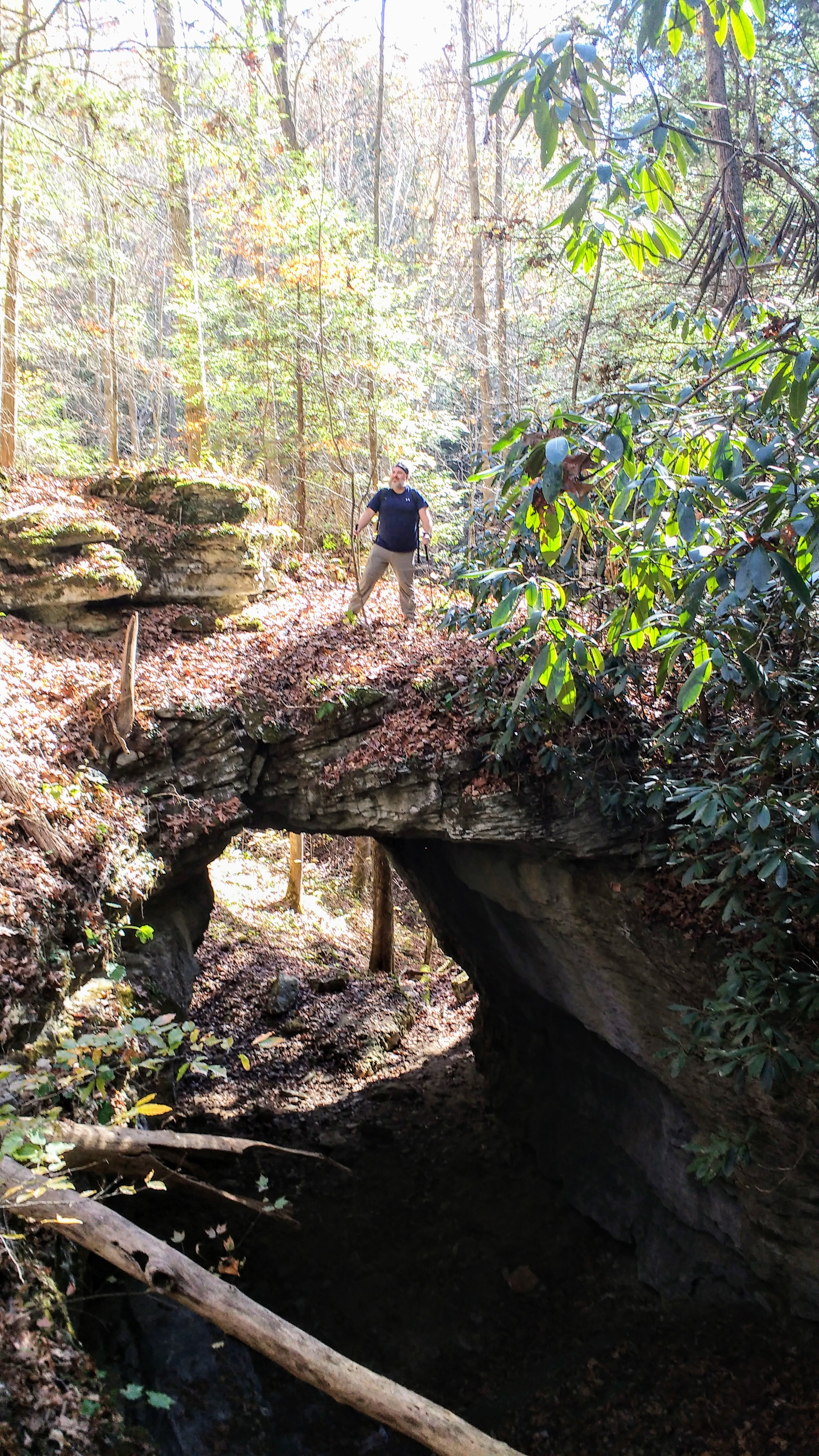 Dave standing atop Wolfpen Arch