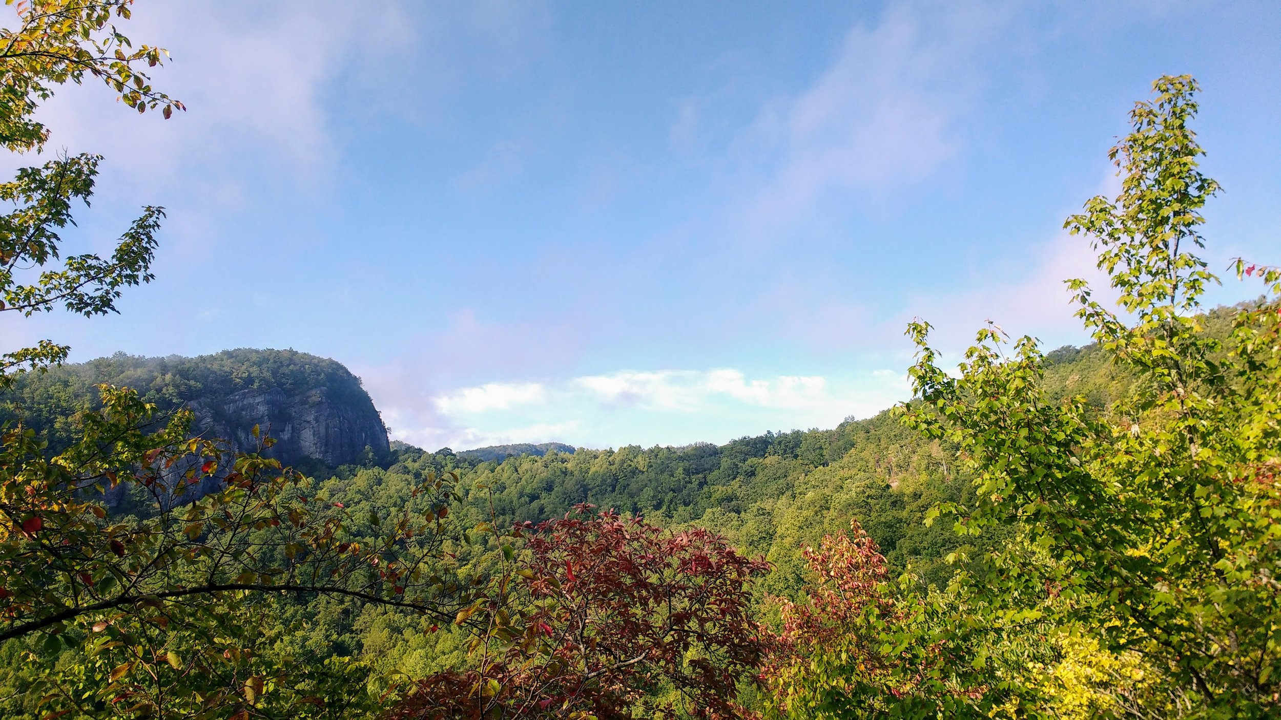 A tremendous overlook on Pine Mountain Trail during Cloudsplitter 50K