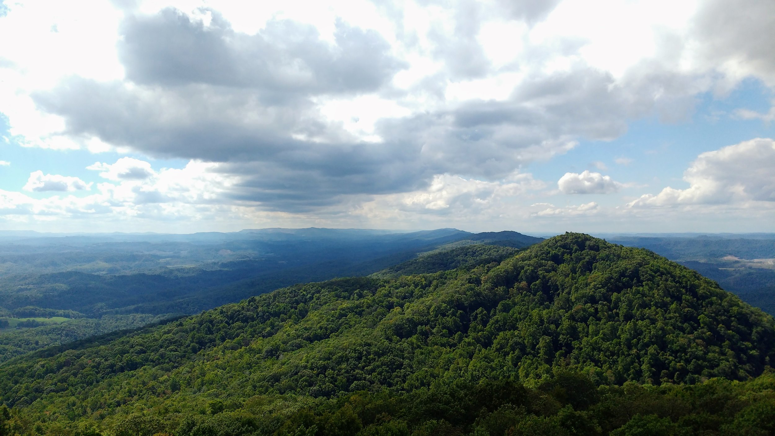 Looking out over Pine Mountain