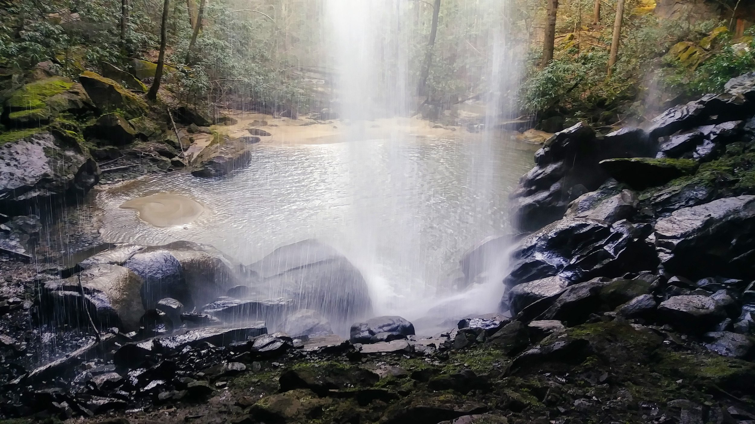 Pool beneath Lick Creek Falls