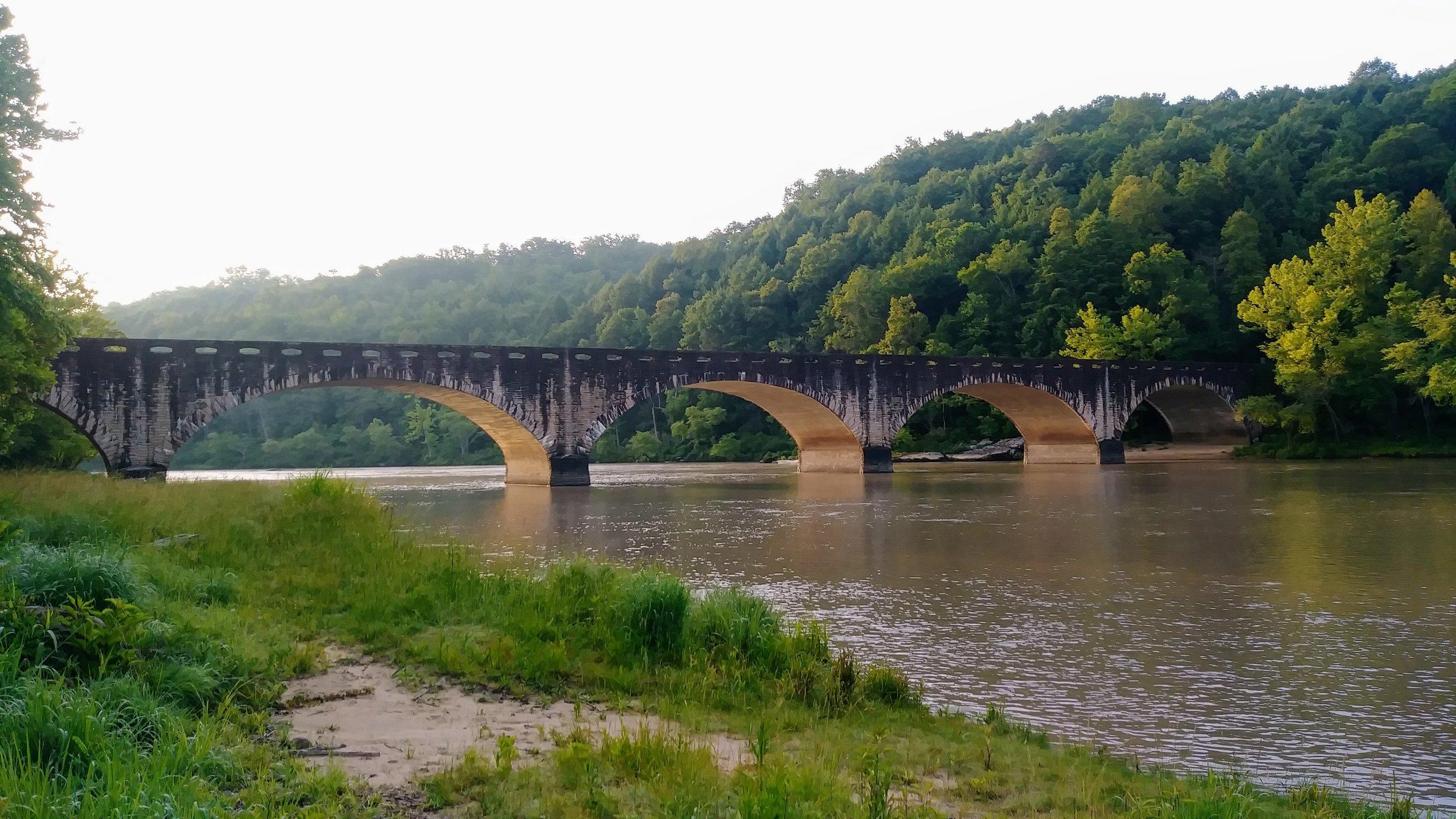 Edward Moss Gatliff Bridge on a glistening morning