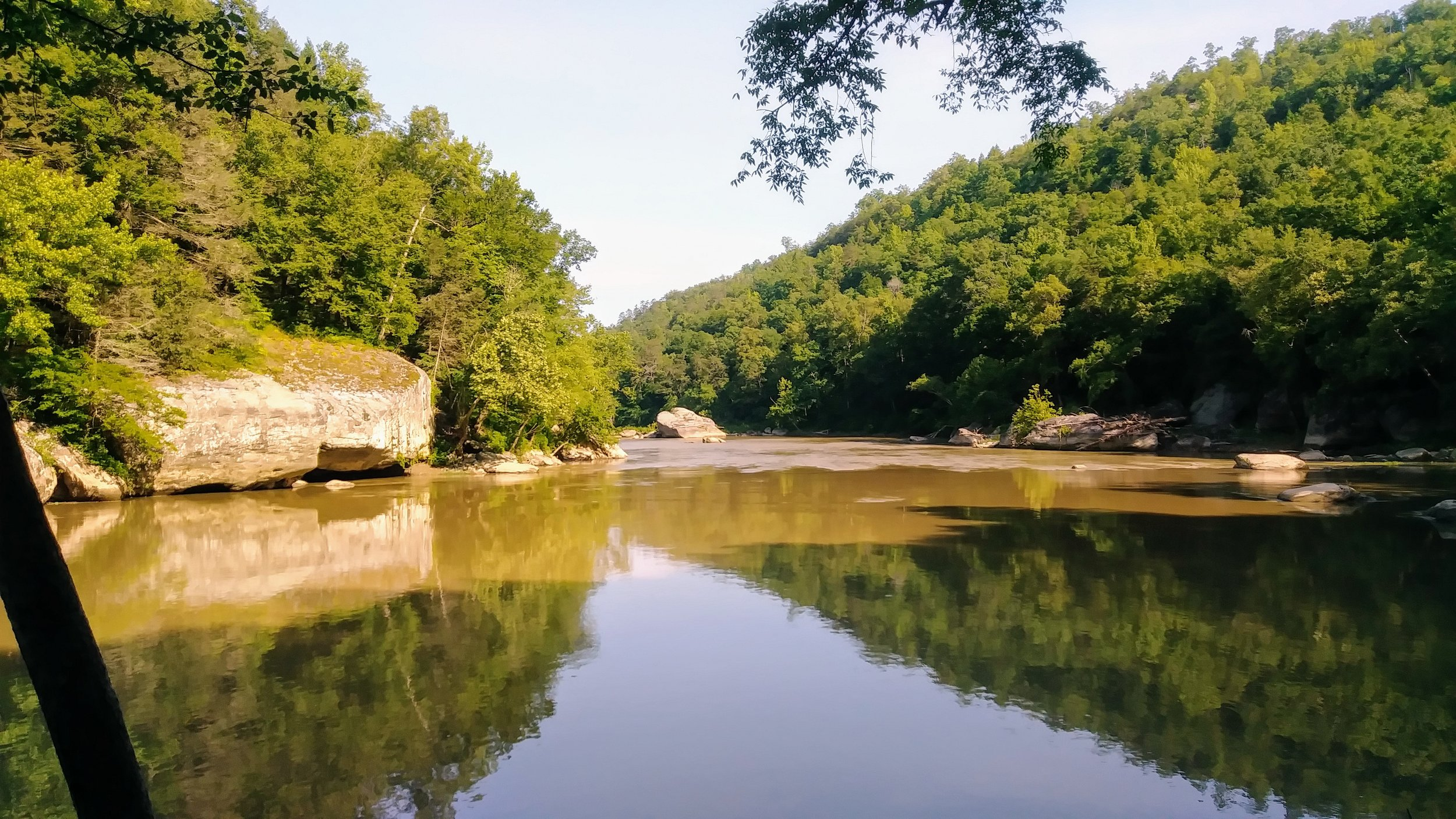 A calm bend in Cumberland River from Sheltowee Trace