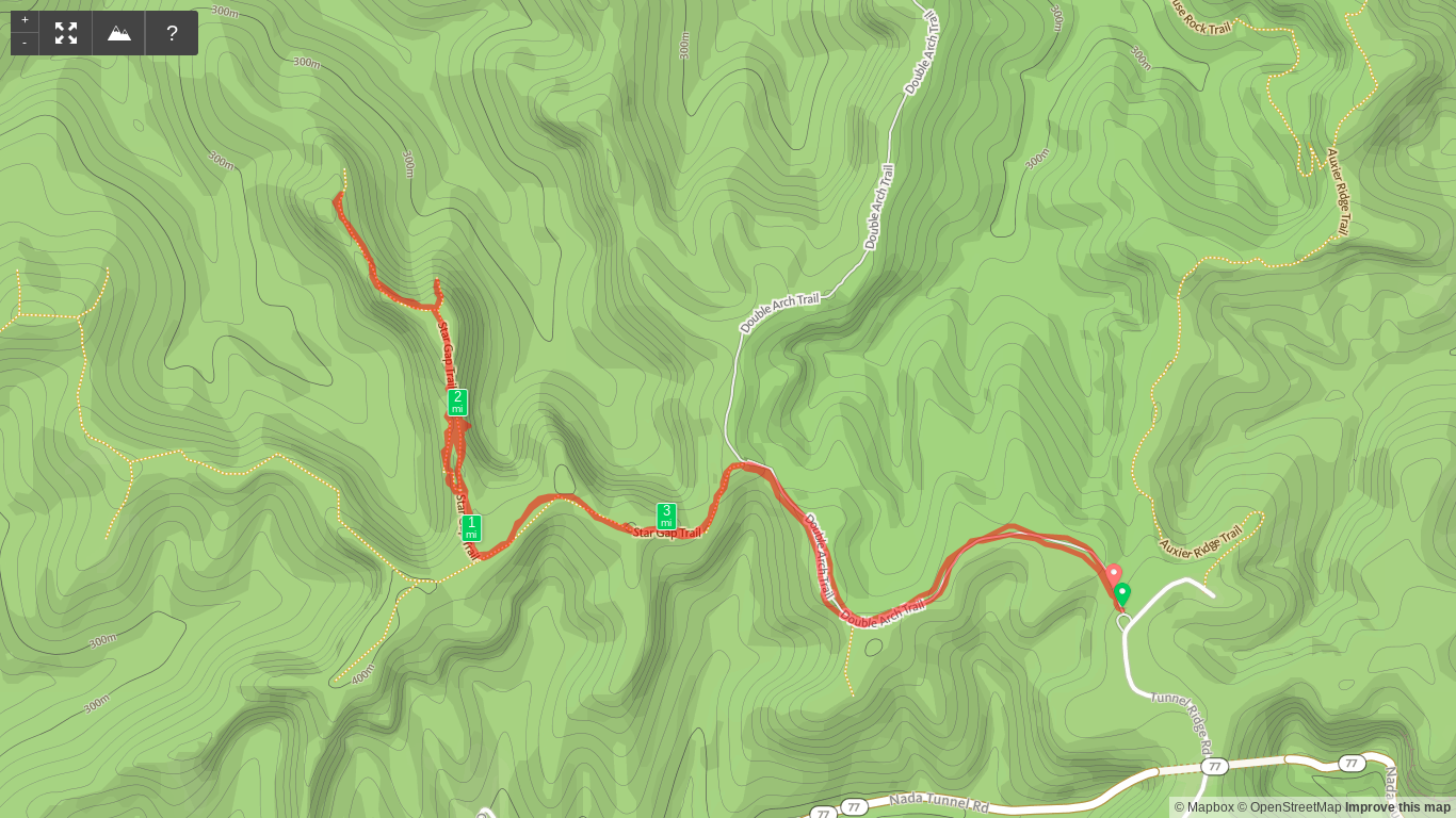 Map of Star Gap Arch hike