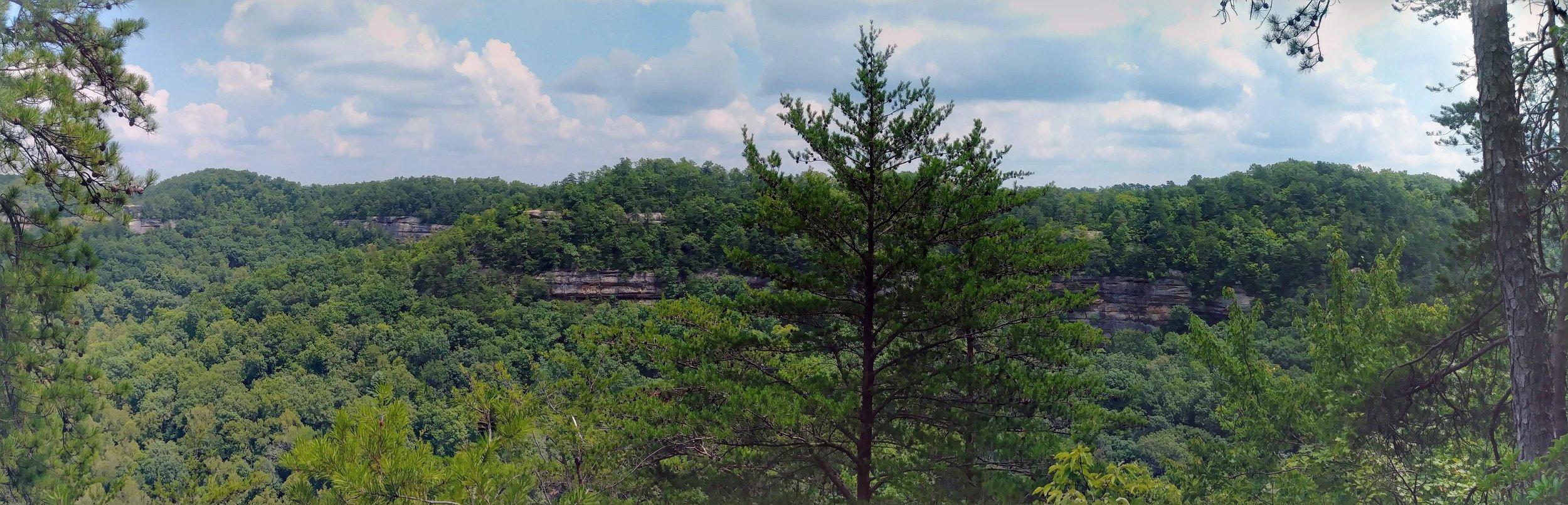 Panoramic vista above Star Gap Arch
