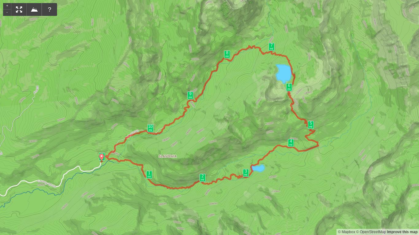 Map of Zirkel Circle Hike