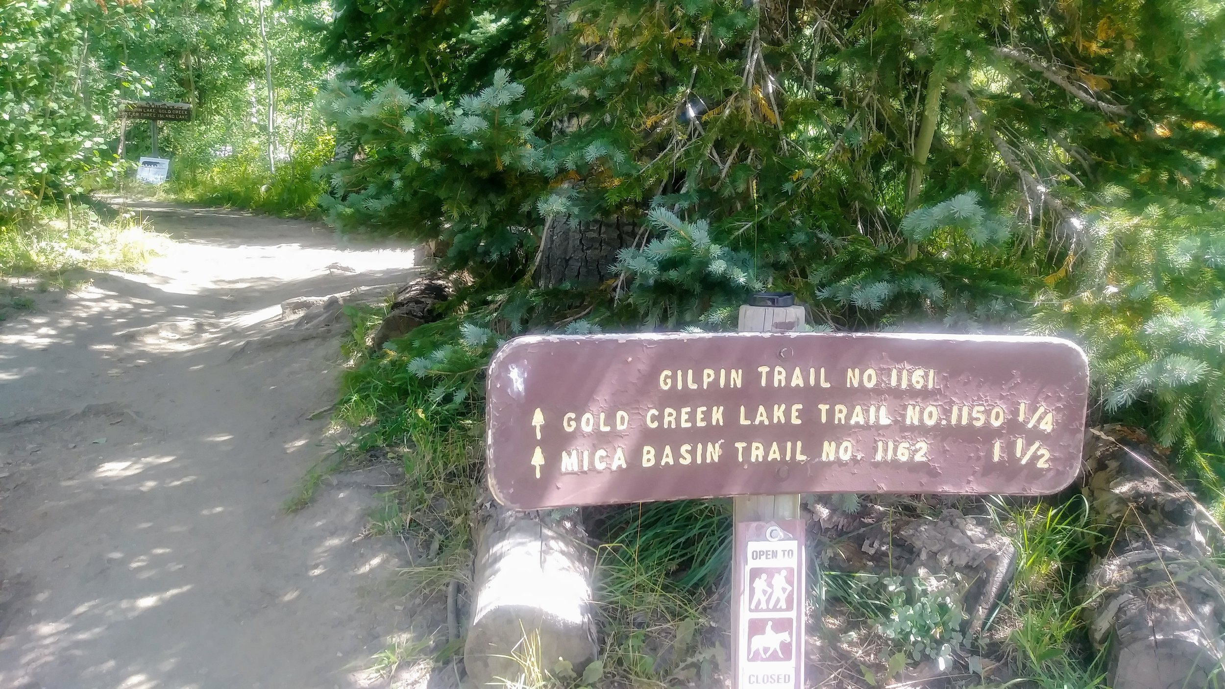 Sign at Gilpin Trailhead