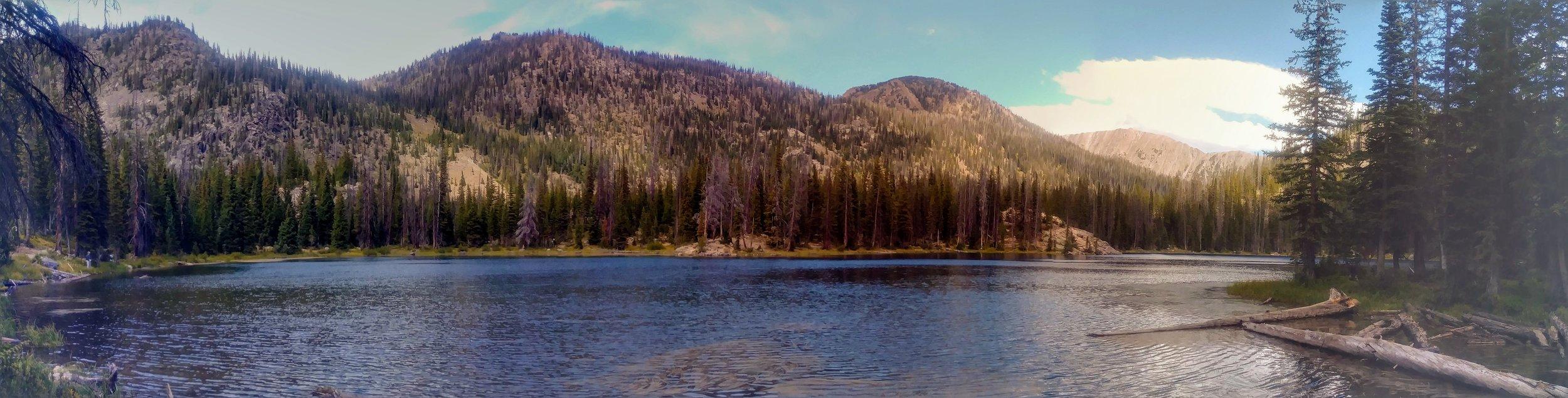 Gold Creek Lake panorama