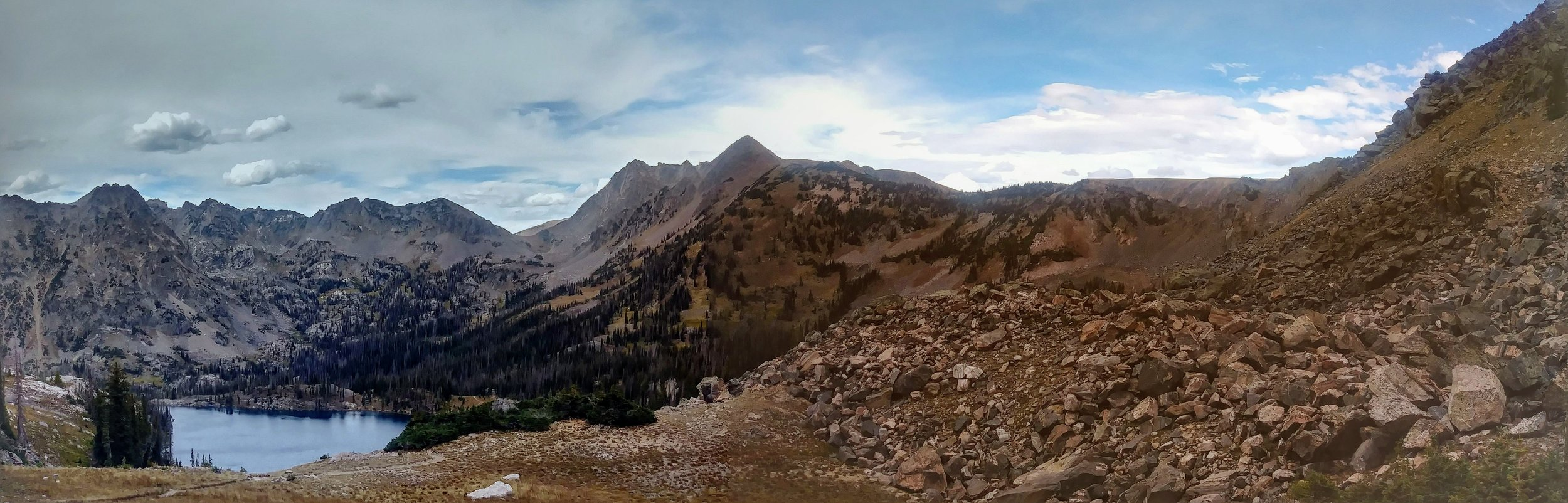 Views north from the Gilpin Lake overlook