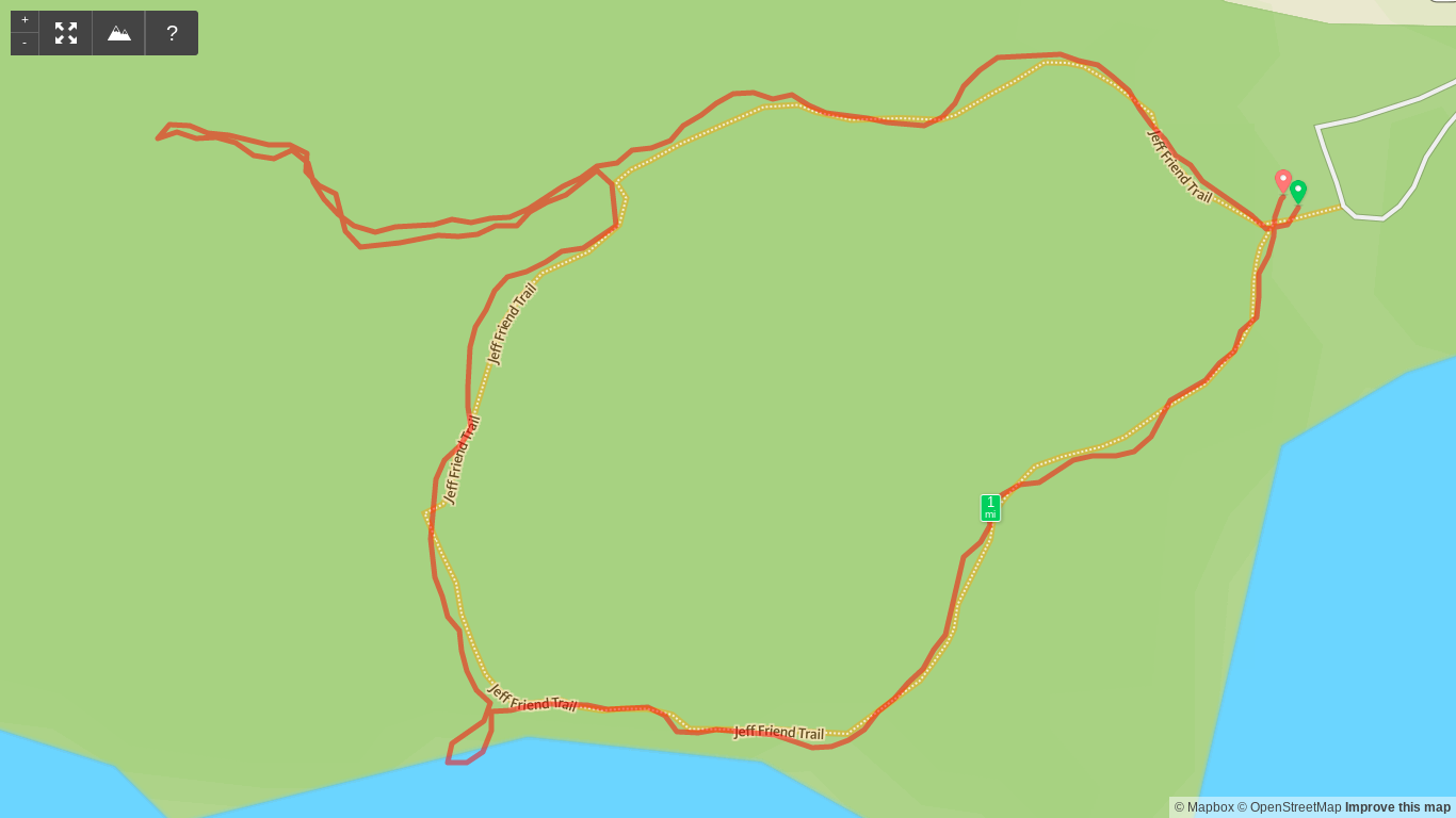 Map of Bon Secour NWR East Hike