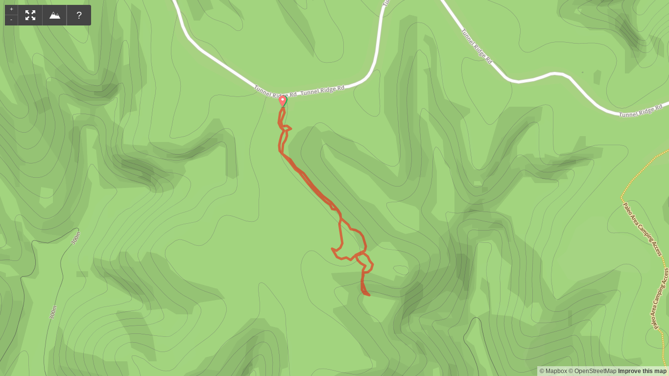 Map of Woodland Road Bed Hike