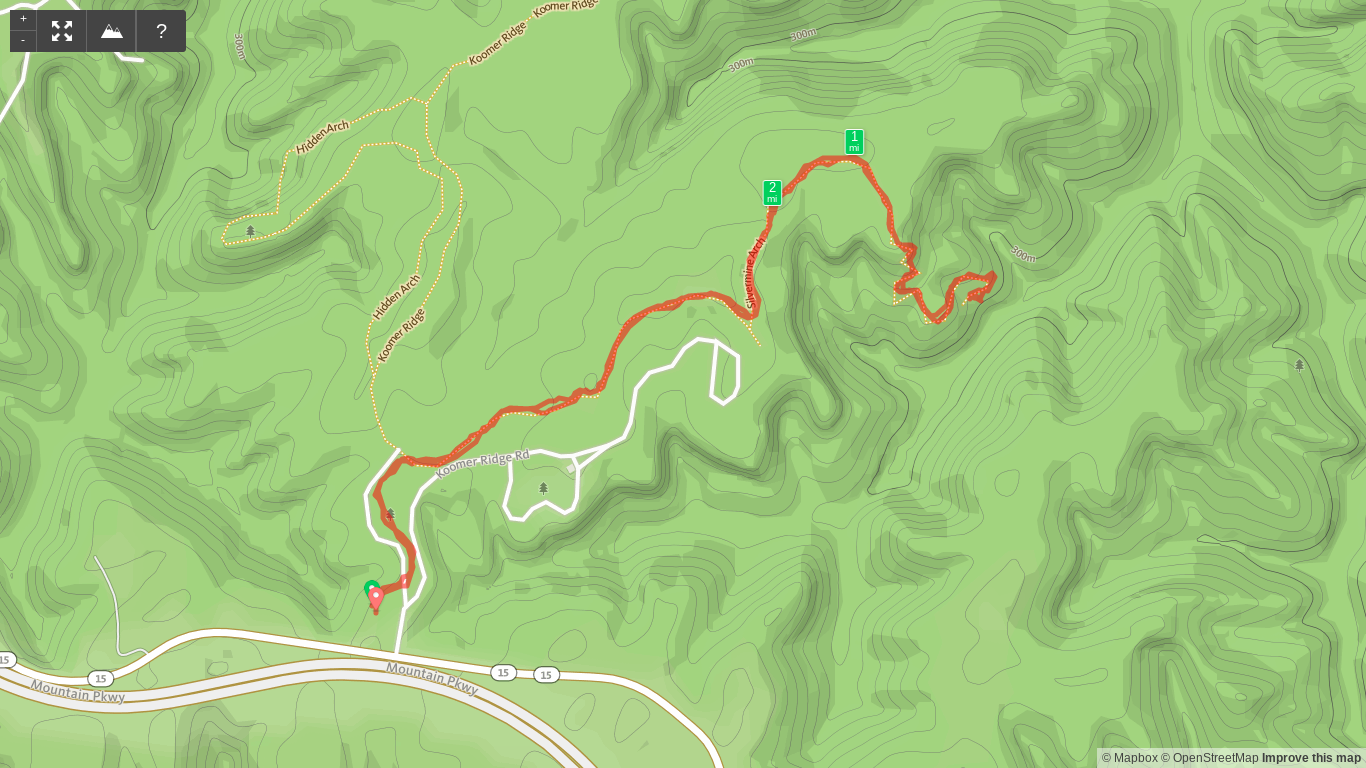 Map of Silvermine Arch Trail