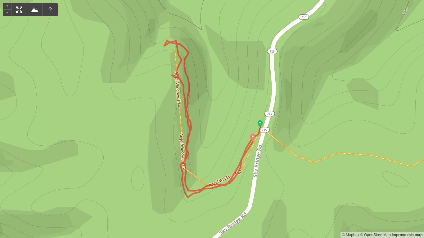 Map of Angel Windows Trail