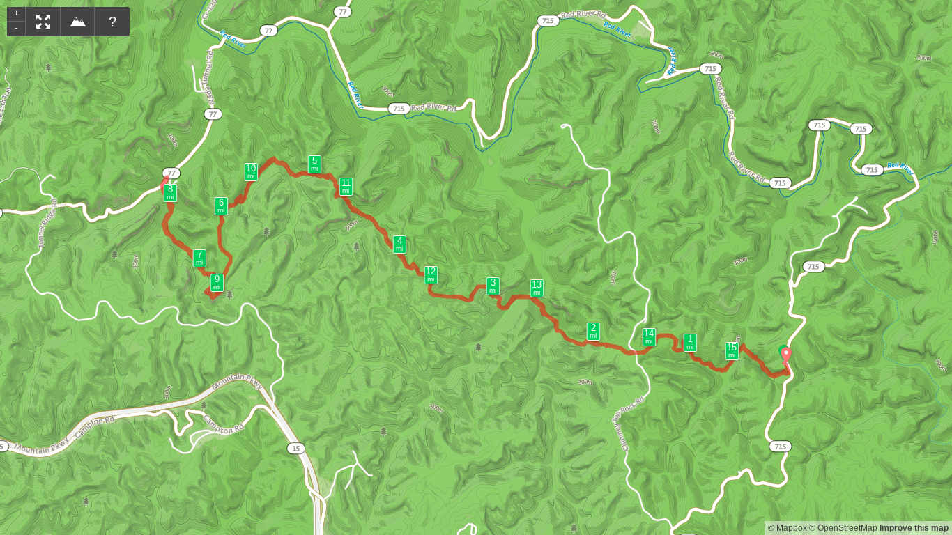Map of Rough Trail Out and Back Hike.png