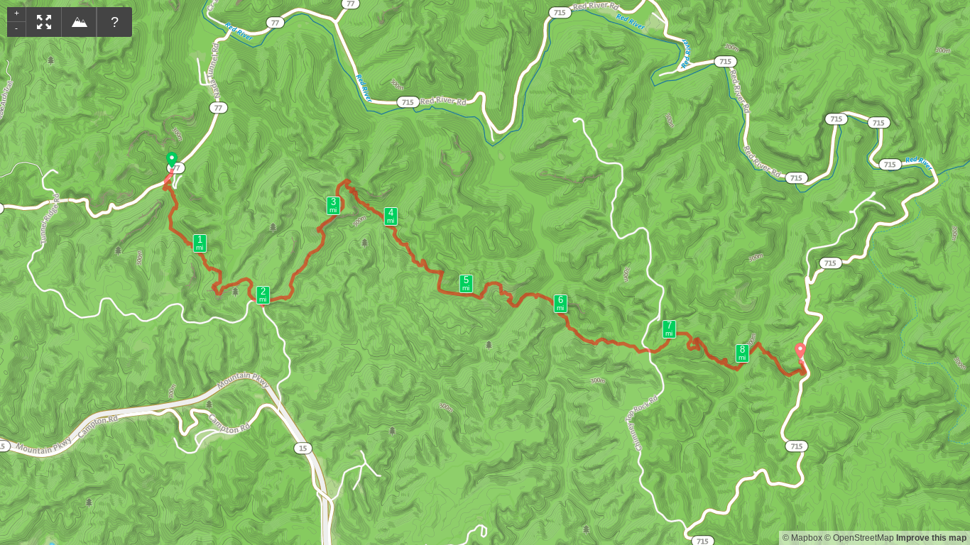 Map of Rough Trail and Rush Ridge Point to Point Hike.png
