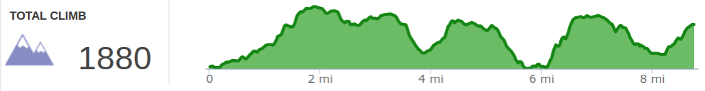 Elevation Profile of Rough Trail and Rush Ridge Point to Point Hike.png