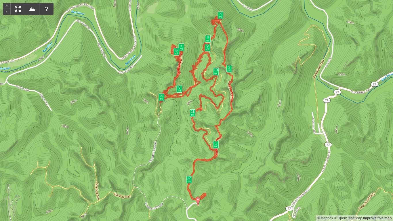 Map of Auxier Ridge - Double Arch Loop.png