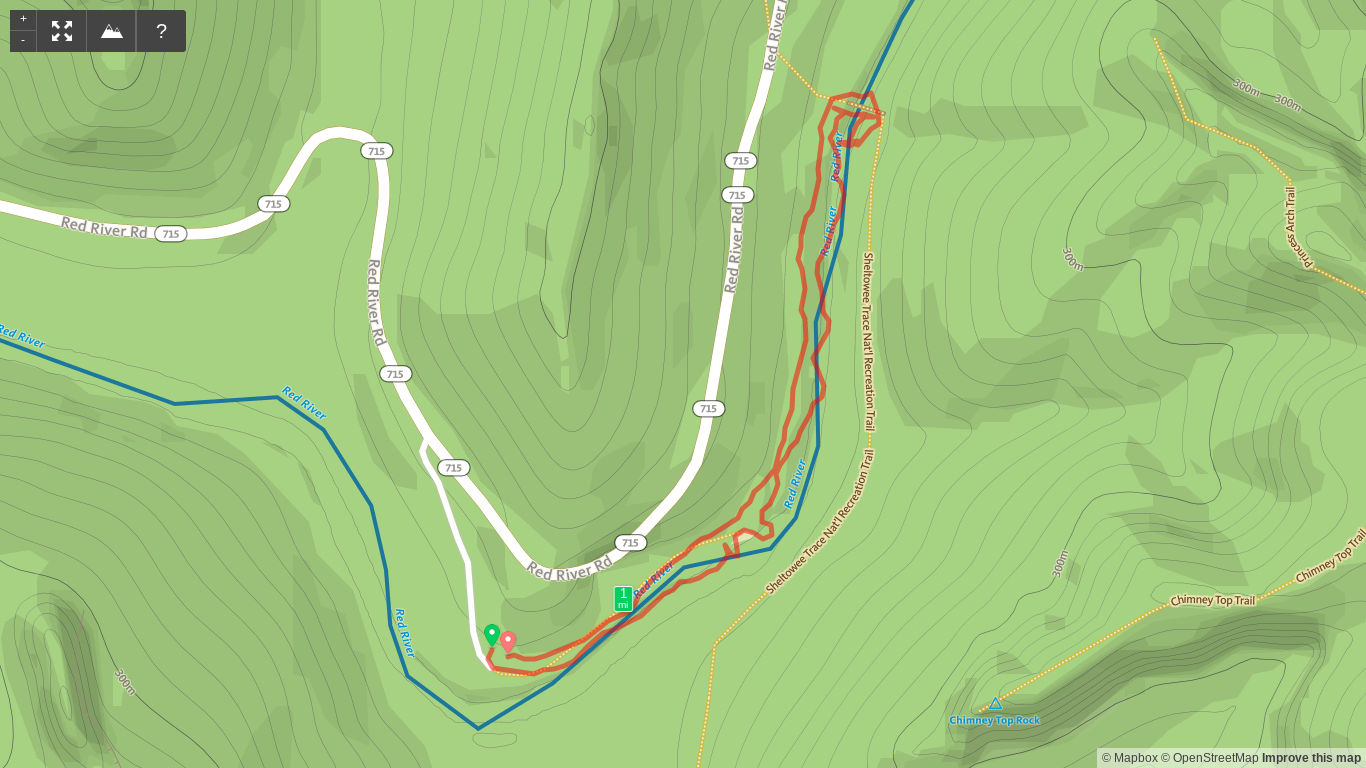Map of Sheltowee Connector Hike.png