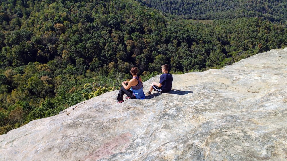 Auxier Ridge - Some of the most iconic photos of Red River Gorge are taken from Auxier Ridge. With two giant rock outcroppings, there's plenty of space to sit and take it all in.