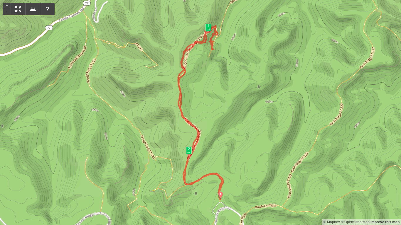 Map of Gray's Arch Out and Back Hike.png