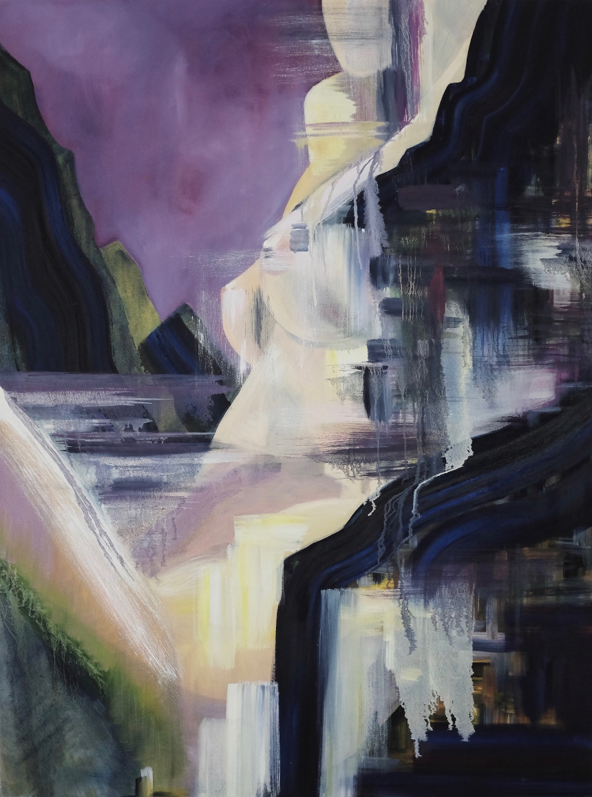Figure #1, 2016, acrylic and oil on canvas  Artist: Hanna leah gibbs