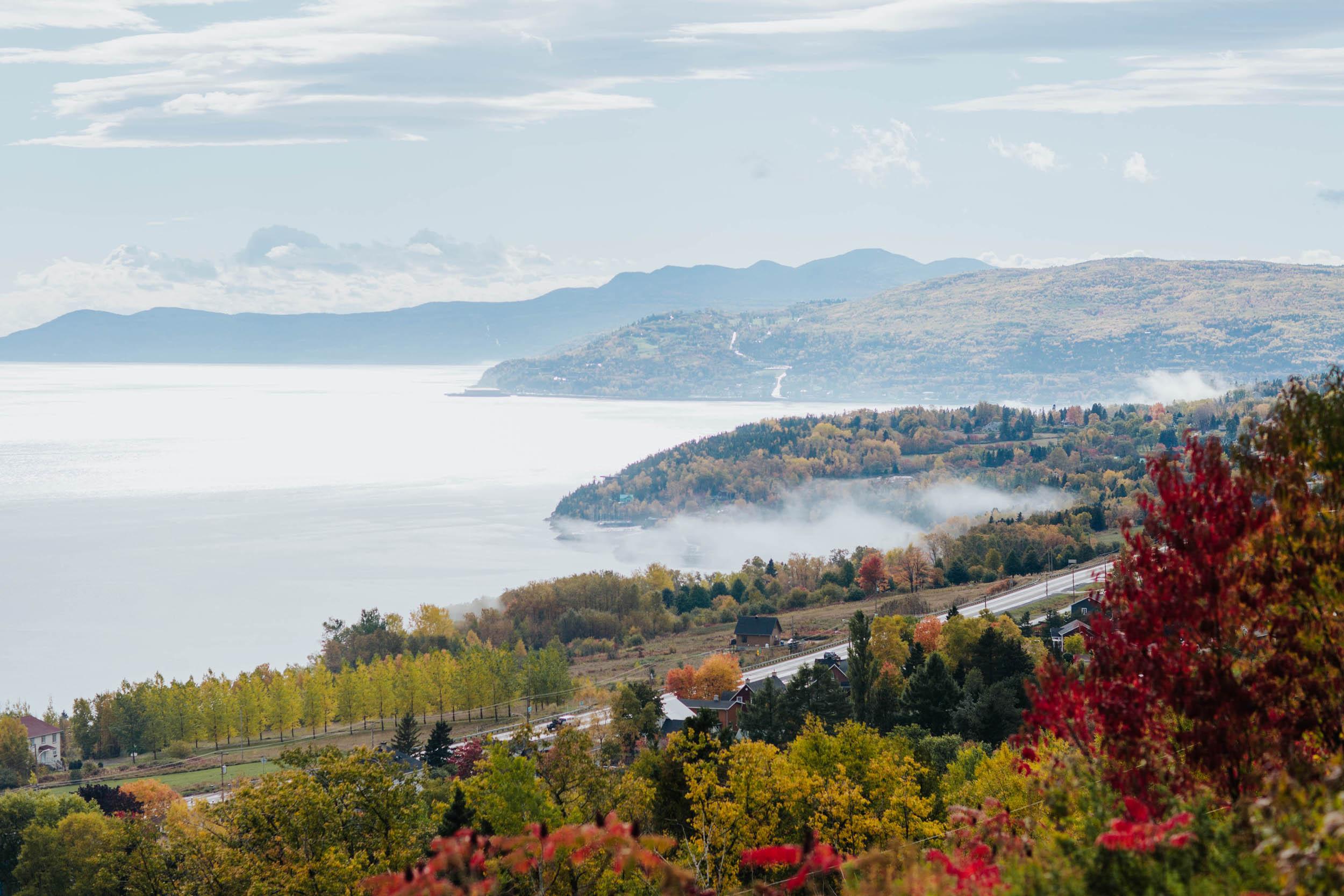 Vue panoramique retraite bien-être dans Charlevoix