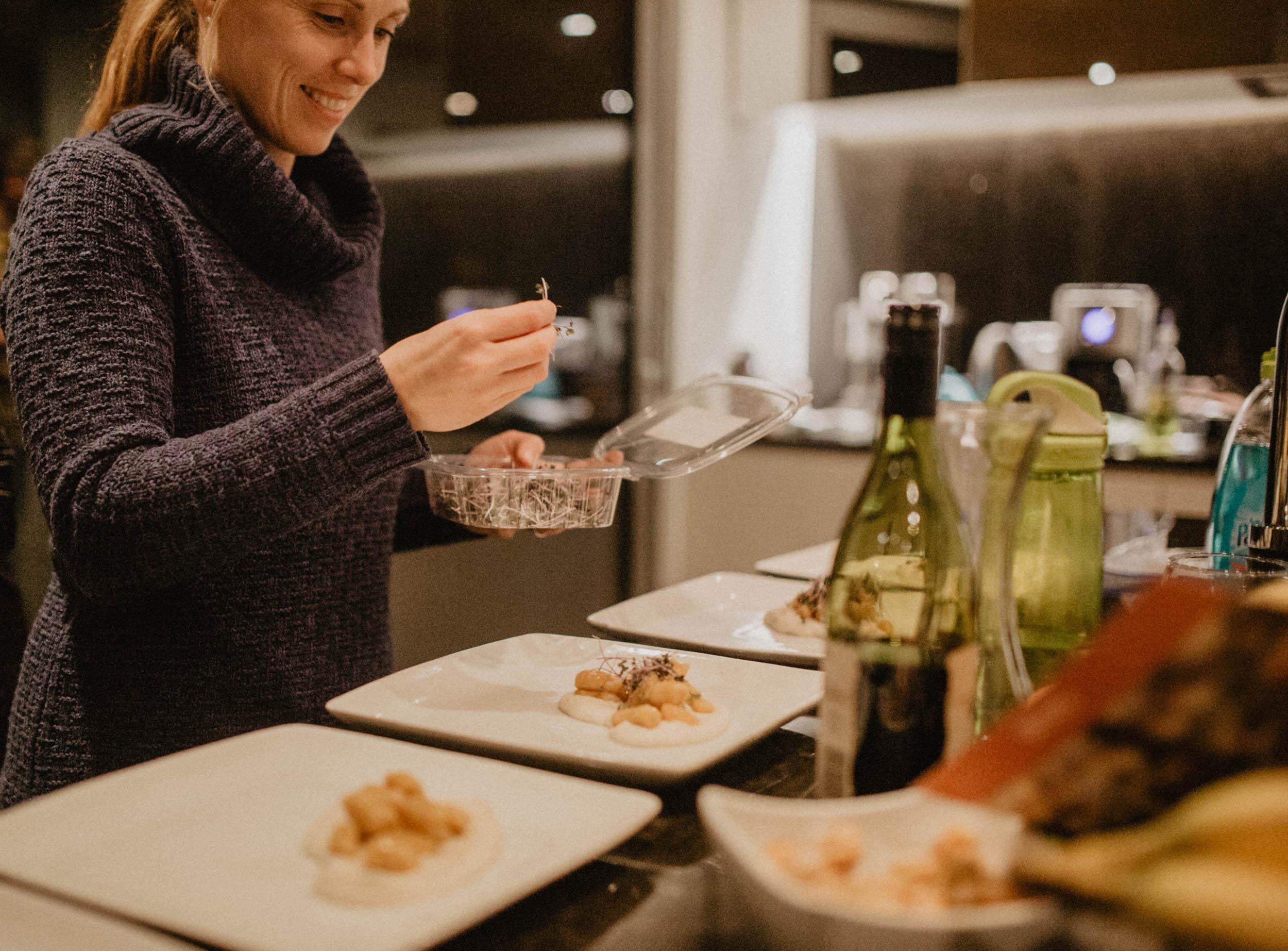 Préparation de repas retraite bien-être